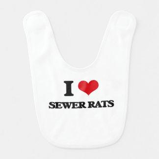 Amo ratas de alcantarilla babero