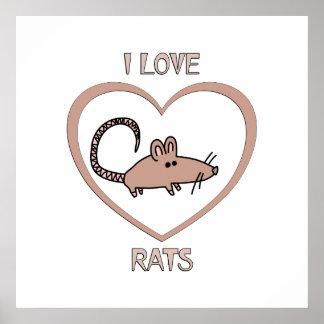 Amo ratas póster