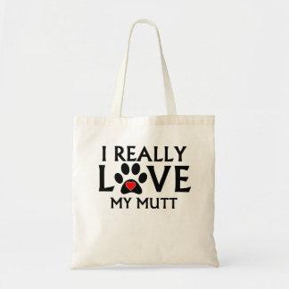 Amo realmente mi Mutt Bolsas De Mano