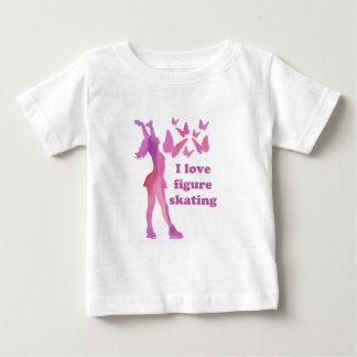 Amo regalos del patinaje artístico camiseta de bebé
