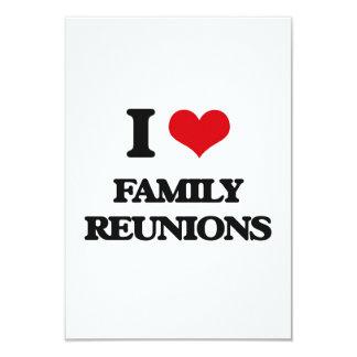 Amo reuniones de familia invitación 8,9 x 12,7 cm