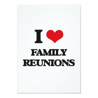 Amo reuniones de familia invitación 12,7 x 17,8 cm