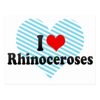 Amo rinocerontes postal