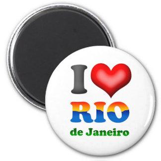 Amo Río de Janeiro, el Brasil la ciudad maravillos Imán Redondo 5 Cm