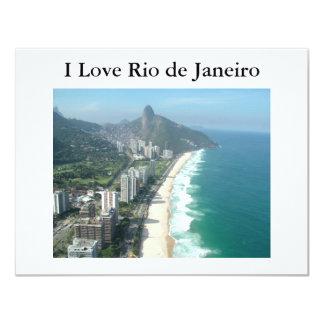 Amo Río de Janeiro Invitación 10,8 X 13,9 Cm