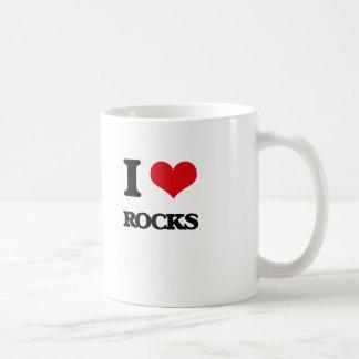 Amo rocas taza básica blanca