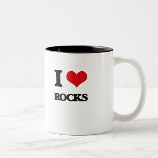 Amo rocas taza dos tonos