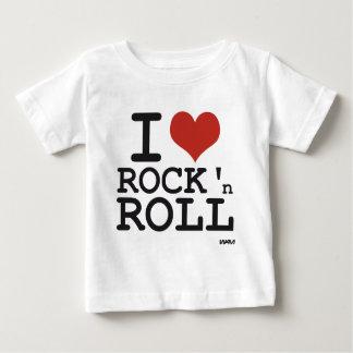Amo rock-and-roll camiseta de bebé