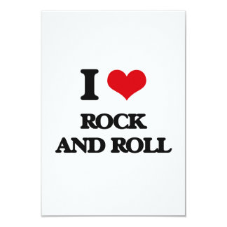 Amo ROCK-AND-ROLL Invitacion Personalizada