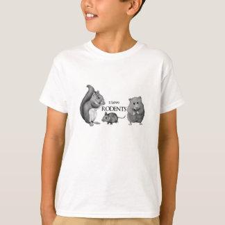 Amo roedores: Ardilla, ratón, hámster: Lápiz Camiseta