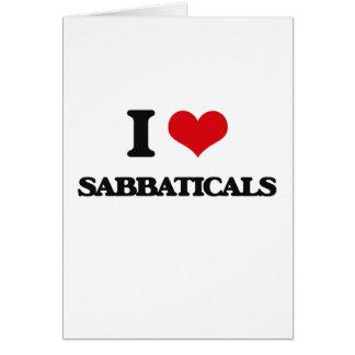 Amo sabáticos tarjeta de felicitación