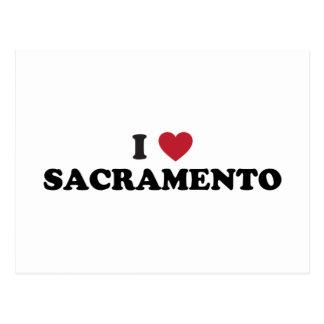 Amo Sacramento California Tarjetas Postales