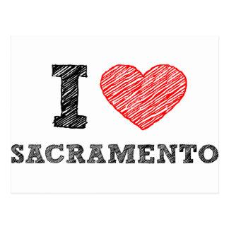 Amo Sacramento Tarjetas Postales