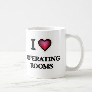 Amo salas de operaciones taza de café