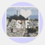 Amo San Francisco Etiqueta Redonda