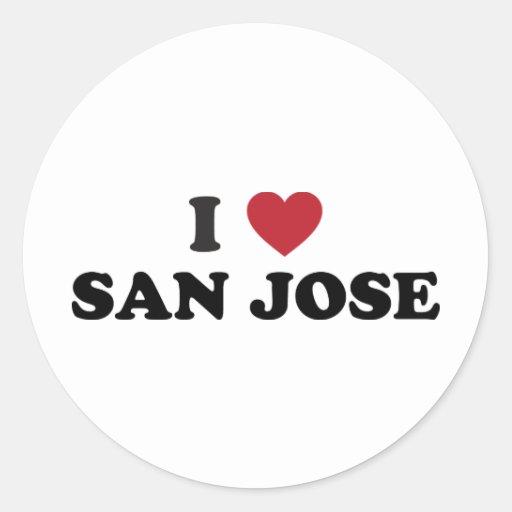 Amo San Jose Etiqueta Redonda