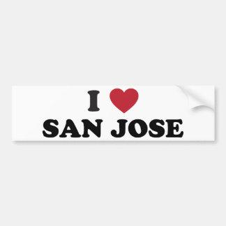 Amo San Jose Etiqueta De Parachoque