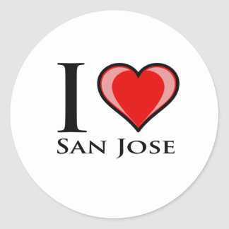 Amo San Jose Pegatina Redonda