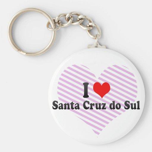 Amo Santa Cruz hago Sul, el Brasil Llavero Personalizado