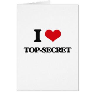 Amo secretísimo tarjeta de felicitación