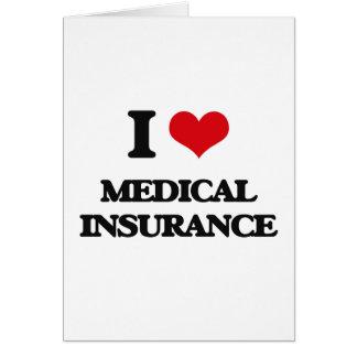 Amo seguro médico tarjeta de felicitación