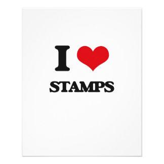 Amo sellos folleto 11,4 x 14,2 cm