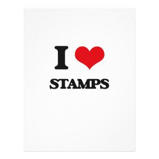 Amo sellos flyer a todo color