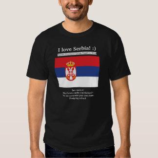 ¡Amo Serbia! También, Serbia escrita en servio Camiseta
