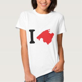 Amo símbolo del contorno de Mallorca Camisas