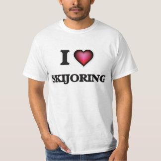 Amo Skijoring Camiseta