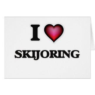 Amo Skijoring Tarjeta De Felicitación