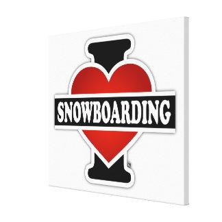 Amo snowboard lona estirada galerias