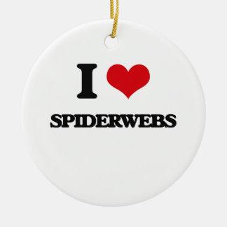 Amo Spiderwebs Adorno Redondo De Cerámica