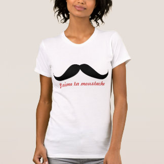 Amo su bigote (personalice) en francés camisas