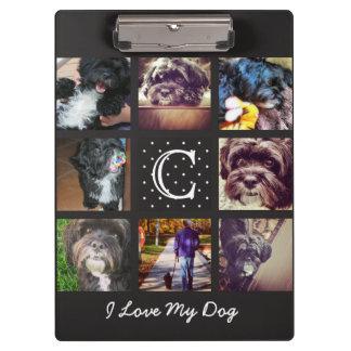 """""""Amo tablero del collage de Instagram de mi perro"""" Carpeta De Pinza"""