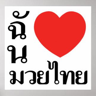Amo tailandés de Muay (para las mujeres) Póster
