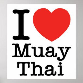 Amo tailandés de Muay Póster