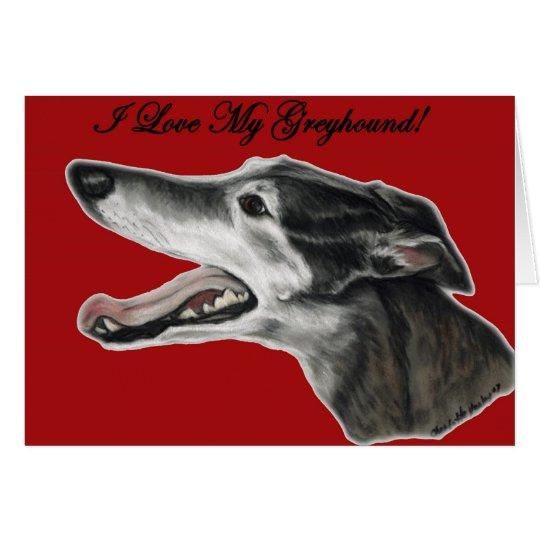 """""""Amo tarjeta de felicitación del arte del perro de"""