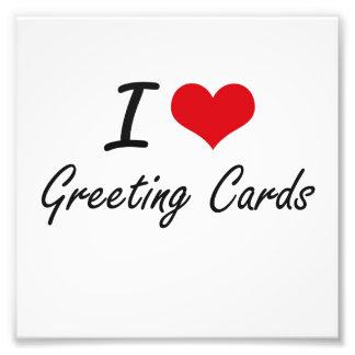 Amo tarjetas de felicitación fotografía