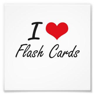 Amo tarjetas flash arte con fotos