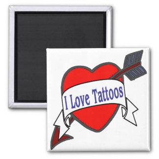 Amo tatuajes imanes para frigoríficos