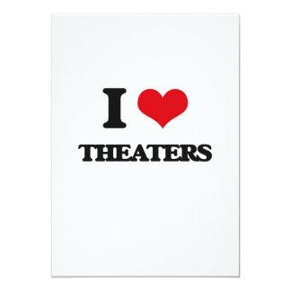 Amo teatros invitación 12,7 x 17,8 cm