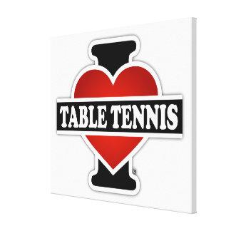 Amo tenis de mesa impresión en tela
