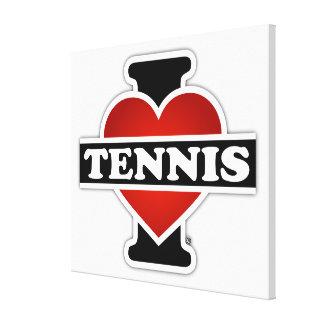 Amo tenis impresiones de lienzo