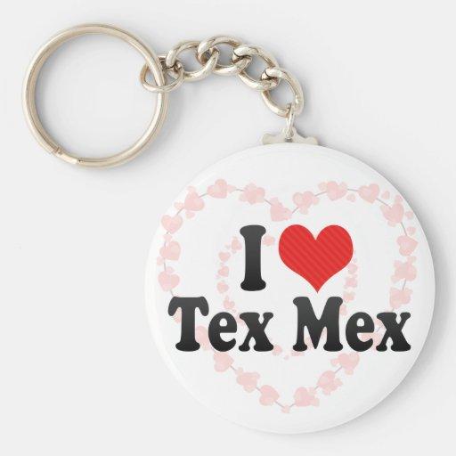 Amo Tex Mex Llaveros Personalizados