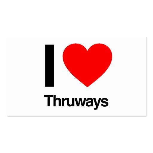 amo thruways plantilla de tarjeta de negocio