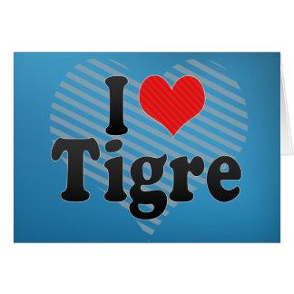 Amo Tigre Tarjetas