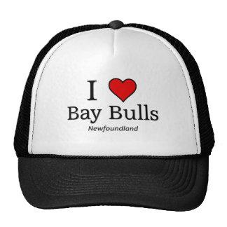 Amo toros de la bahía gorro de camionero