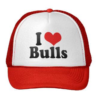 Amo toros gorras de camionero