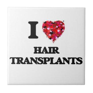 Amo trasplantes del pelo azulejo cuadrado pequeño